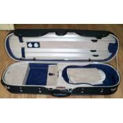Etui violon 4/4 modèle LUXE noir/bleu-beige (2040BLB)