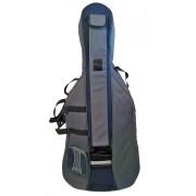 Housse violoncelle 4/4 de Luxe PASSION gris/bleu (810-4GBL)
