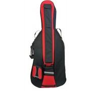Housse violoncelle 4/4 de Luxe PASSION coloris noir/rouge (810-4NR)