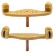 Pieds avec pas de vis jaune long pour côté mince du coussin alto et violon 4/4 (KUN-4)