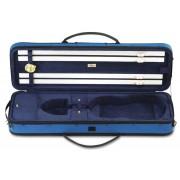 """Etui violon 4/4 """"LANG LUXE"""" rectangulaire bleu/bleu (2011-BB)"""