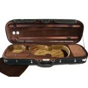 Etui violon 4/4 modèle LUXE noir/chocolat-beige (2030-BR)