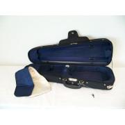Etui violon 1/2 PASSION LUXE forme trapèze noir/bleu (59-2)