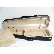 Etui violon 4/4 PASSION LUXE forme trapèze noir/beige (59-4BG)