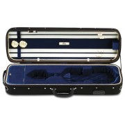 Etui violon 4/4  LANG GRAND LUXE LIGHT Noir/Bleu (GN-57)