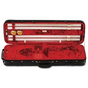Etui violon 4/4 LANG LUXE VERNIS light Noir/Rouge (LP-57)