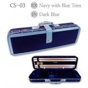 Etui violon 4/4  LANG LUXE bleu bordures bleu - intérieur bleu (CS-03)