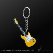 Porte clefs guitare électrique jaune (MDKC31) *** PRIX NET ***