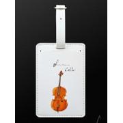Etiquette bagage violoncelle (MDLT3) ***PRIX NET***